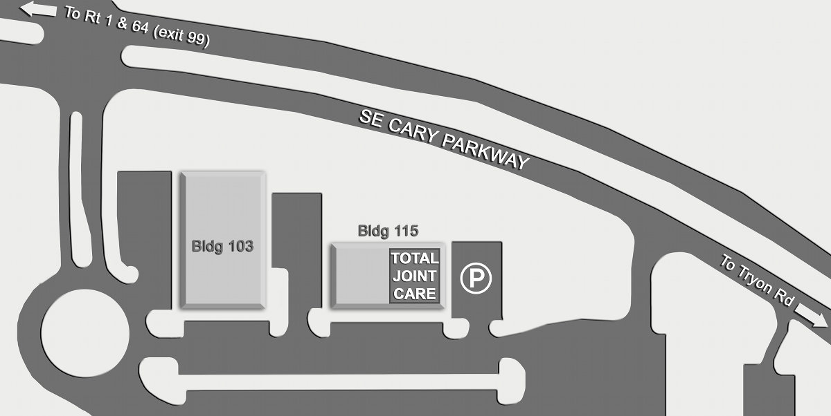 Parking Map for Cary Office